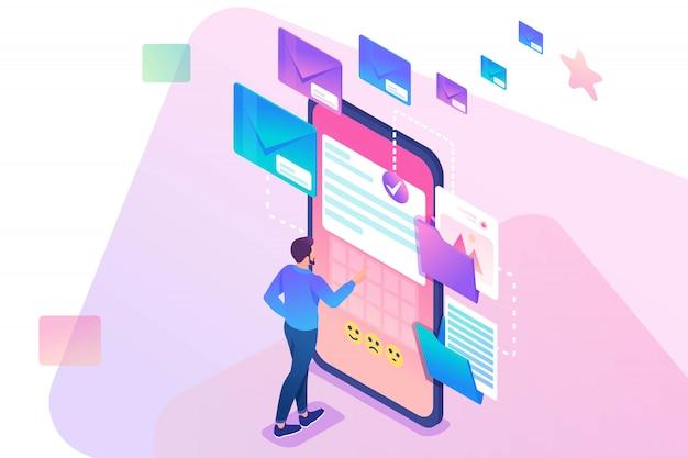 Maakt nieuw e-mailbericht aan, verzend e-mailmelding. nieuw inkomend bericht
