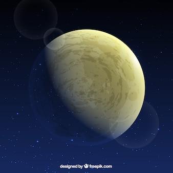 Maan achtergrond in het heelal