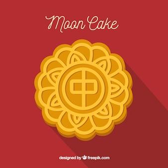 Maan cake achtergrond in vlakke stijl