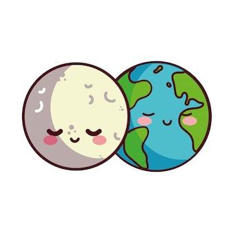 Maan en aarde blij begeleid