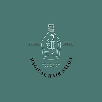 Maan en hand magisch logo