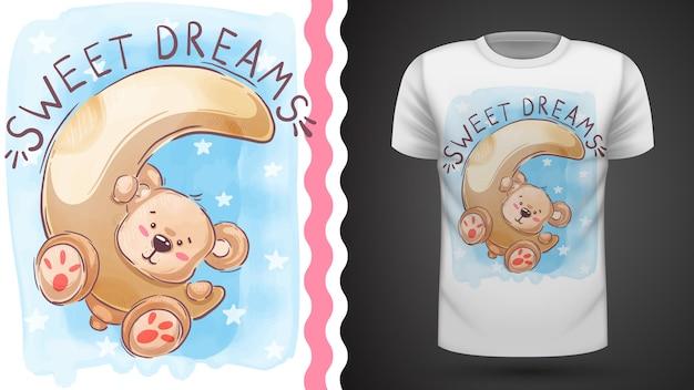 Maan en teddy