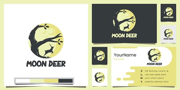 Maan herten logo ontwerp inspiratie