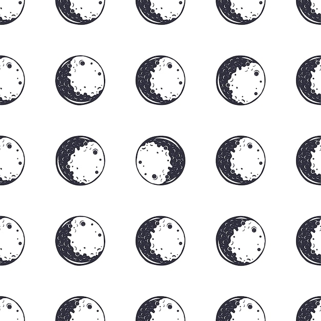Maan naadloze patroon.