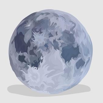 Maan realistische handgetekende illustraties en vectoren