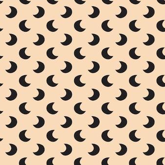 Maan schattig hand getekend vector naadloos patroon happy halloween