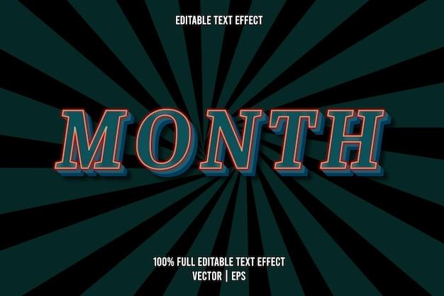 Maand bewerkbare tekst groenblauw kleur