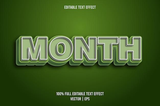 Maand bewerkbare teksteffect komische stijl
