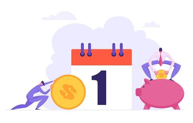 Maandelijkse lening betaling concept illustratie