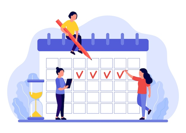 Maandmarkeringen in de menstruatiekalender