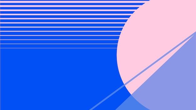 Maanlandschap behang in roze en blauw
