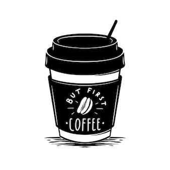 Maar eerste koffieillustratie
