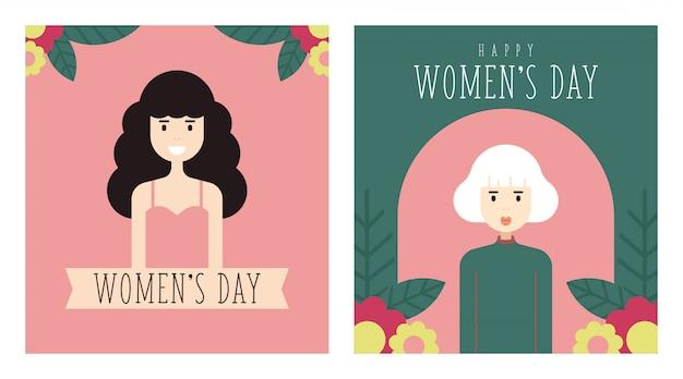 Maart vrouwendag illustratie