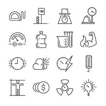 Maateenheid icon set.