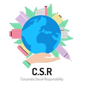 Maatschappelijk verantwoord ondernemen concept
