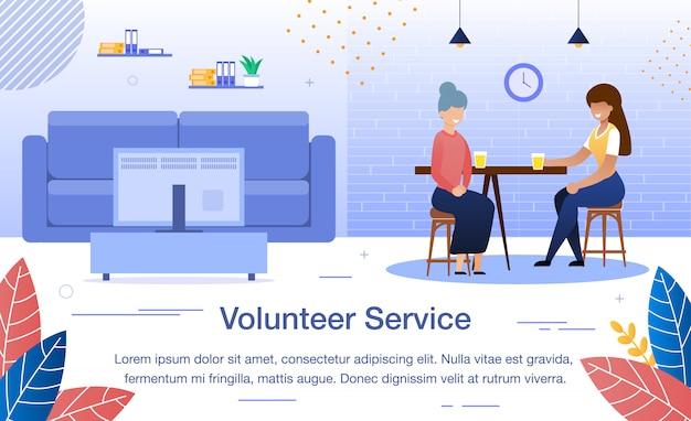 Maatschappelijk werk service platte spandoeksjabloon