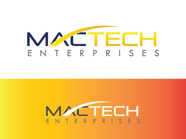 Mac die het ontwerp van het bedrijfslogo herstelt