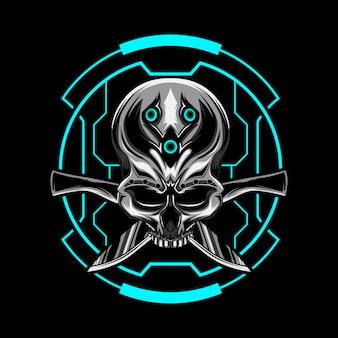 Machete schedel vector