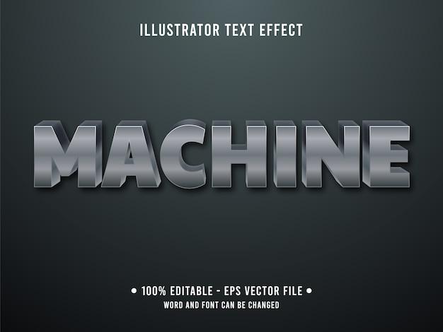 Machine bewerkbaar teksteffect moderne stijl met grijze stalen kleur