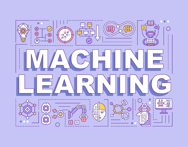 Machine learning woord concepten banner