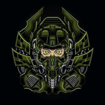 Machine meisje robotachtige cyborg vrouw
