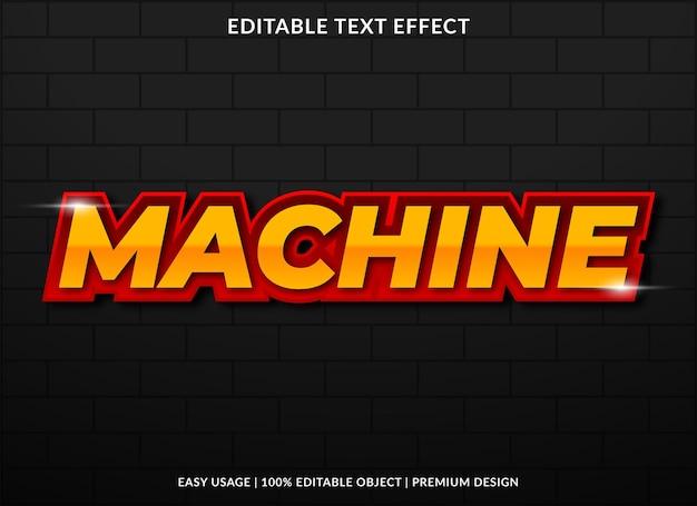 Machineteksteffect met gewaagde stijl