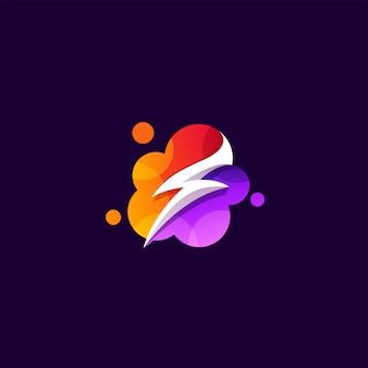 Macht logo ontwerp illustratie