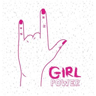 Macht poster meisje