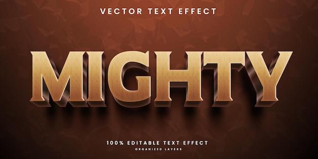 Machtig 3d bewerkbaar teksteffect