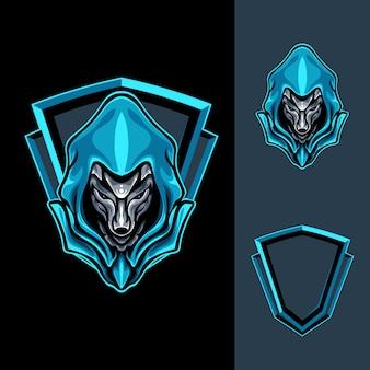 Machtige blue fox-illustratie