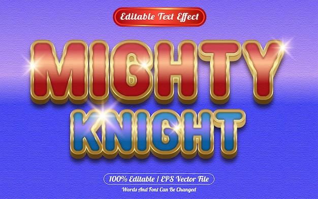 Machtige ridder bewerkbare teksteffect sjabloonstijl