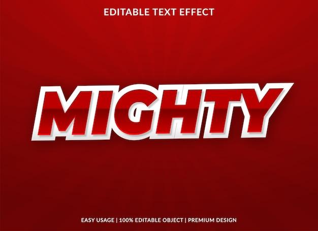 Machtige, vetgedrukte premium-stijl van het teksteffect