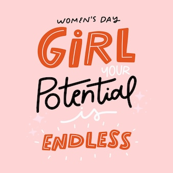 Machtigen belettering vrouwendag