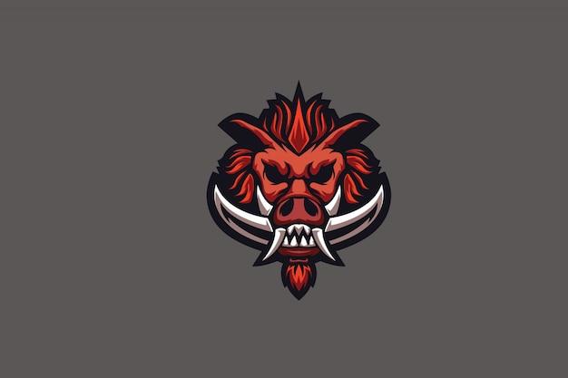 Mad piggiz-illustraties voor esports-logo