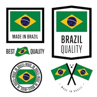 Made in brazil label set