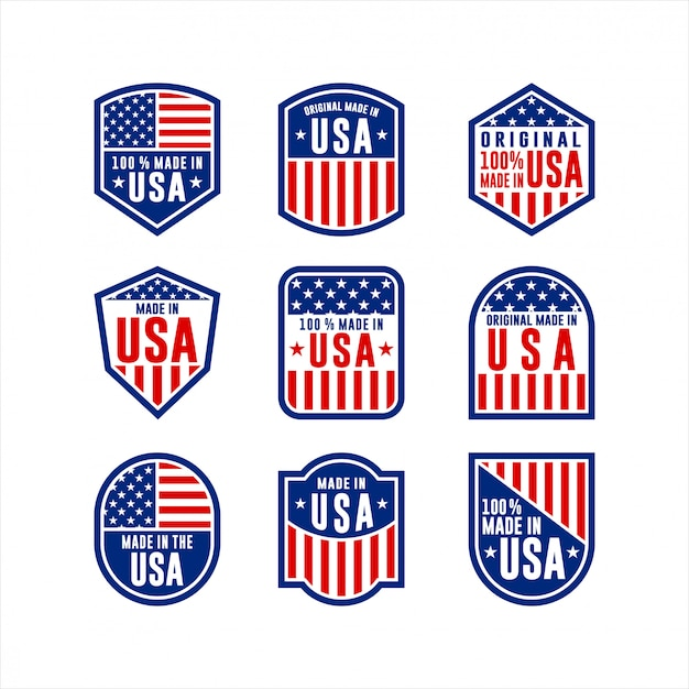 Made in usa label collection