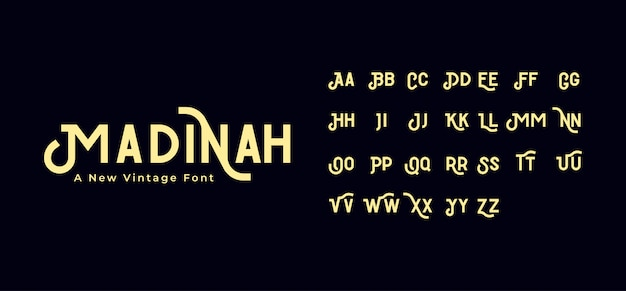 Madinah vintage lettertype
