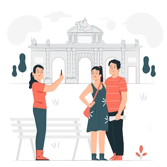 Madrid concept illustratie