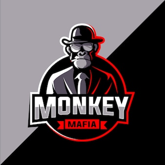 Maffia aap esports logo ontwerp