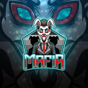 Maffia esport mascotte logo ontwerp