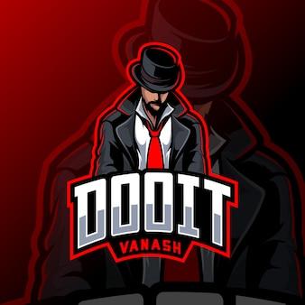 Maffia mascotte esport logo