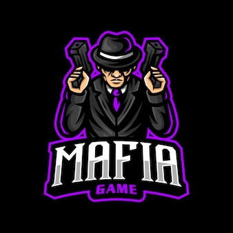 Maffia mascotte logo esport gaming