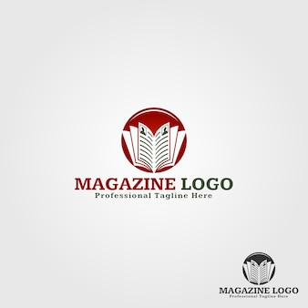 Magazine logo template
