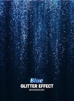 Magic glitter achtergrond in blauwe kleur.