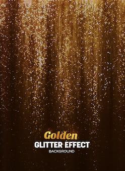 Magic glitter achtergrond in gouden kleur.