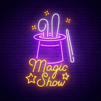 Magic show neon teken