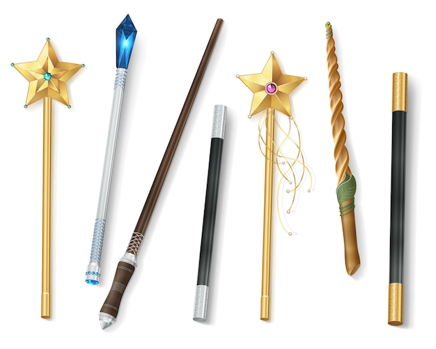 Magic wand realistic set