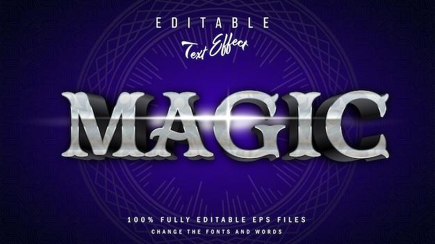 Magisch 3d-teksteffect typografisch ontwerp