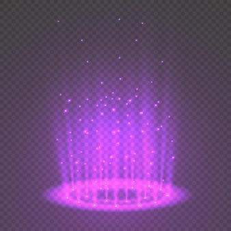 Magisch fantasieportaal. futuristische teleport. licht effect.