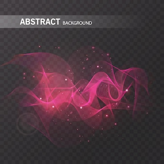 Magisch gloeiend effect op transparante achtergrond voor uw ontwerp, kleurrijk abstract effect.